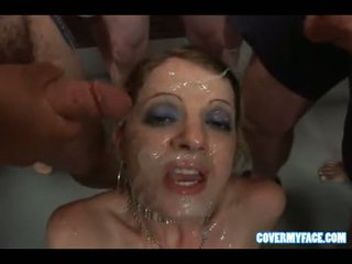 Cum Lover Anita Blue Receives An Awesome Explosion Of Cum On Her Filthy Face