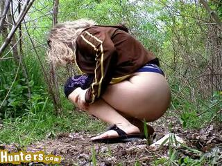 Spycam Catches Cutie Pissing The Ground