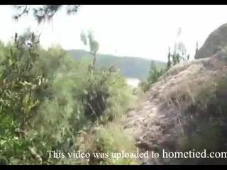شاب الهاوي بري اللعنة في حين mountain hiking