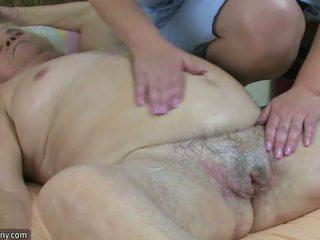脂肪 大美女 奶奶 有 性別 同 豐滿的 成熟 和 捆綁式 性交