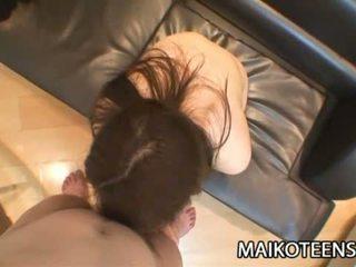 Mio Yamauchi Japanese Teen Satisfying Her Pussy