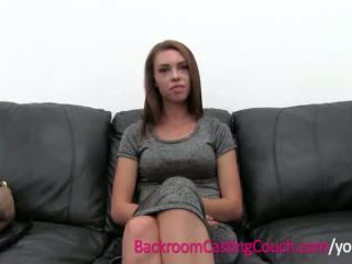 Hot First Timer Painal on Casting Couch
