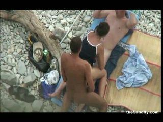 voyeur, spiaggia, hot nudism