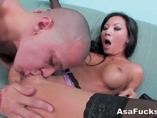 Asa akira gets ji kočička pounded těžký