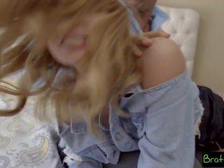 blondīnes, tētis, mazs krūtis