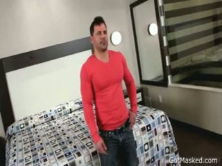 Beefy Muscled Guy Beating Off