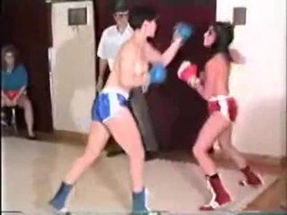 Miranda vs Bindi topless boxing
