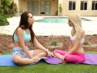 Yoga Girlfriends Jenna Sativa and Piper Perri <span class=duration>- 5 min</span>