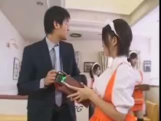 morena, japonés, uniforme