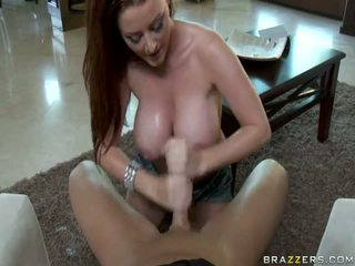 Sophie Dee Using Her Oustanding Brabazons To Please