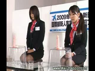 Vreemd japans lul zuigen demonstration
