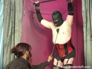 Corpulent terug meesteres punishing