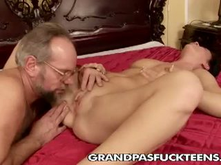 ass licking, bedroom, old man