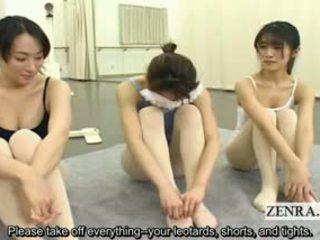 Subtitled ENF Japanese Ballerinas Stark Naked Stripping