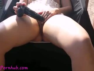Lady Lace Massive Outdoor Squirts!