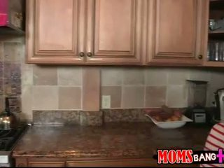 Milf busted couple boning in the kitchen