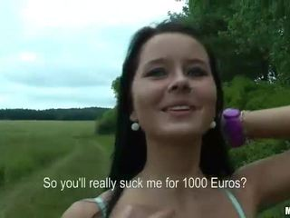 Eurobabe mia pounded sisään julkinen varten raha