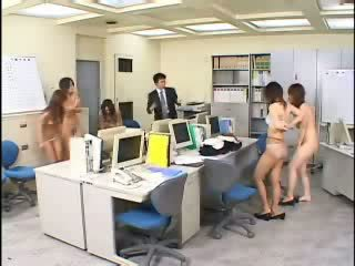 Time Stop In Japanese Office Video