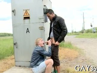 gay, blowjob, outdoors