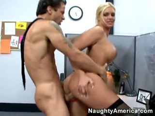 Blondie in kaose sikil acquires hardcored at work