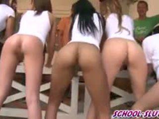 brunete, koledža, grupu sekss