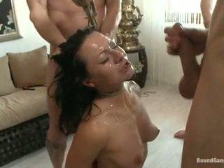 Sandra romain coquette hebben cumming drops van een gekruid chaps