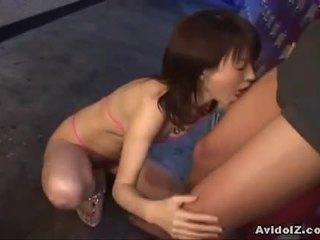 brunette, deepthroat, japanese