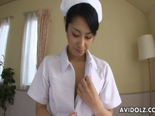 Asian Nurse Sucking Hard on a Fat Dick POV: Free Porn f4