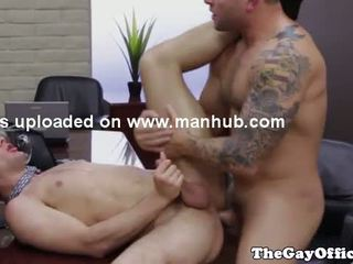 Muscled office hunks hardcore anal bang