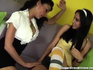 Horny MILF Gets Some Teen Pussy