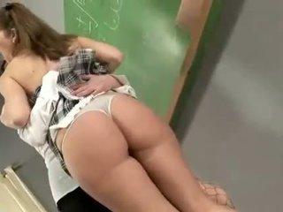 Busty teen fucks her mature teacher in her ass