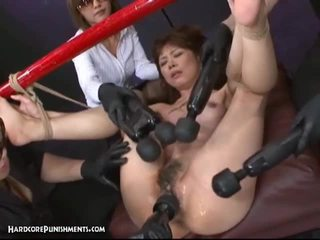 Japanese bondage sex with hary pussy asian whore and filthy toys