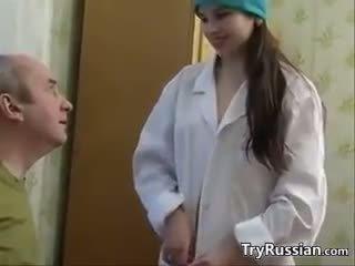 Cute Russian Nurse Having Sex