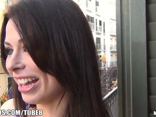 brunette, deepthroat, skinny