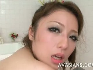 Busty japanese mom likes it deep in th...