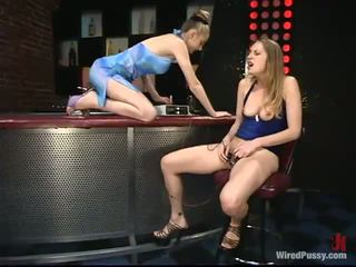 Alluring Leila Has Her Downy Hoo Hoo Toyed At A Bar