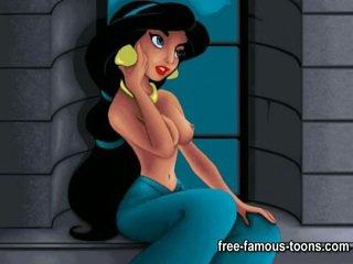 Aladdin e jasmine porno paródia