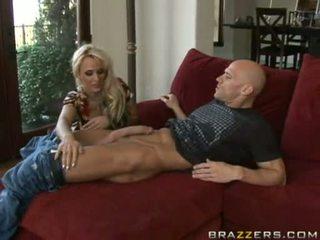 Holly Halston Takes Two Dicks