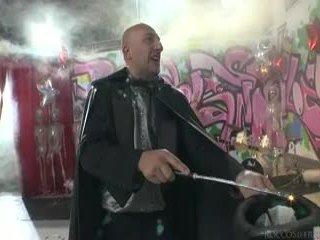 Sleaze angels dance og omar galanti performs magic tricks.