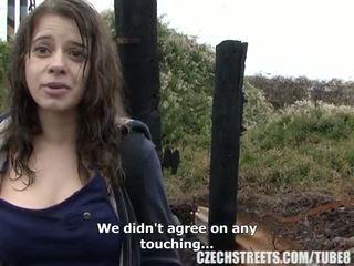Czech College Girl Outdoor SEX for Cash
