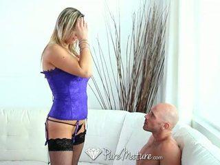 blowjob, big tits, mature