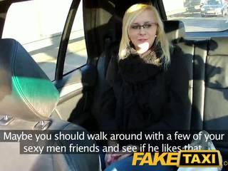 Faketaxi seksikas noor blond sisse payback kättemaks