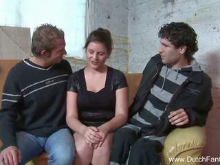 Random olandese trio in holland, gratis porno ea