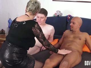 德语 奶奶 他妈的 two dicks, 自由 德语 他妈的 高清晰度 色情 e5