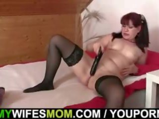 Lusty Mature Rides Son in Law Cock