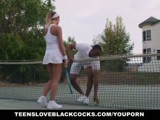 Teensloveblackcocks - นมโต august ames stretched ออก โดย bbc โค้ช