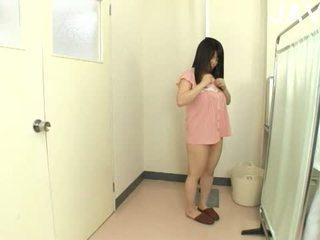 brünette, japanisch, große brüste