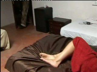 Porner premium: 業餘 性別 視頻 該 toying 她的 自己 的陰戶 和 得到 附帶 上 奶.