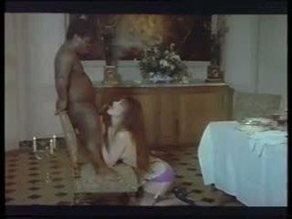 Retro Classic - Brunette in Purple Panties Sex with.