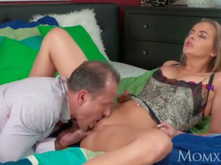 MOM Mature housewife with big natural tits gets creampie from neighbour